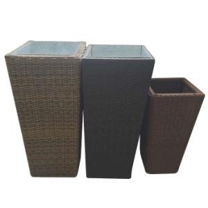 Square Garden Planter Baskets Patio Furniture Natural Handwoven Storage Rattan Flower Vase/Pot pictures & photos