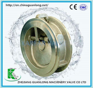 (H77) Wafer Butterfly Tilting Disc Non Return Swing Check Valve pictures & photos