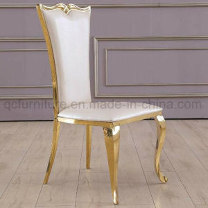 PU White Wedding Chair with Silver Stainless Steel Leg pictures & photos