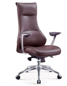 Soft Feeling Brown Color Genuine Leather Executive Office Chair (HX-6004) pictures & photos