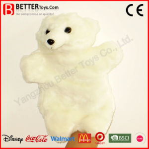 Plush Toy Stuffed Polar Bear Hand Puppet for Baby/Children/Kids pictures & photos
