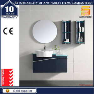 The Latest MDF White Lacquer Bathroom Furniture Cabinet with Mirror pictures & photos
