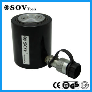 90 Tonlow Height Single Acting Hydraulic Flat Cylinder Jack pictures & photos