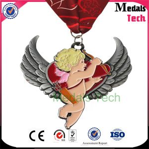 Promothon Custom Copper Plated Soft Enamel Metal Sport Medal with Ribbon pictures & photos