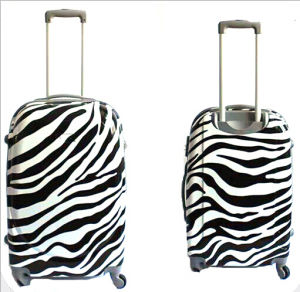 ABS+PC Hard Zebra Printed Rolling Spinner Hardshell Luggage Suitcase pictures & photos
