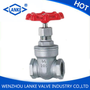 NPT Thread Stainless Steel Gate Valve with 200wog
