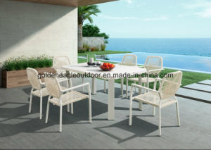 Plastic Wood and Aluminum Frame Outdoor Dining Furniture pictures & photos