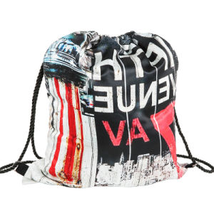 Polyester Nylon Drawstring Bag Backpack (YYDB050) pictures & photos