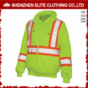 En471 ANSI High Visibility Reflective Cotton Fleece Hoodies (ELTHJC-450) pictures & photos