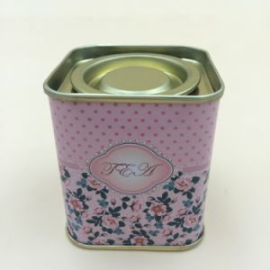 Square Caddy Tea Tins Metal Cans pictures & photos