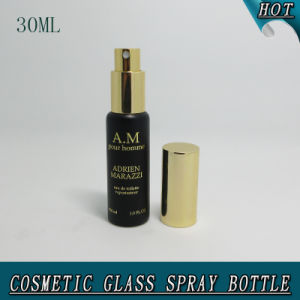 30 Ml 1oz Matt Black Hot Stamping Cosmetic Container Glass Mist Spray Water Bottle pictures & photos