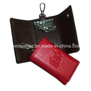 Leather Key Holder Wallet Keyring Case with Six Rings pictures & photos