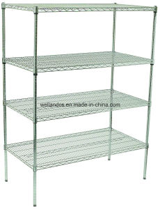 NSF 4 Tiers Adjustable Metal Material European Supermarket Rack, 16 Years Factory pictures & photos
