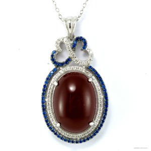Wholesale Hand Carved 925 Silver Round Pendant (P4969g) pictures & photos