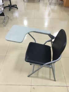Cheap Leather School Node Training Relaxing Foldable Chair with Writing Pad pictures & photos
