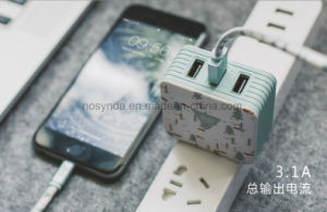 3c Mobile Phone 3 Dual USB Adapter Travel Wall Charger Mobile Phone Accessories pictures & photos
