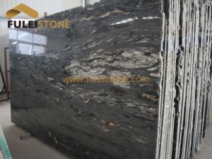 Black Granite Gangsaw Slab Gloden Granite