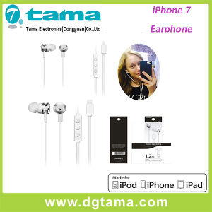 Metal Head in-Ear for iPhone iPad Earphone with Microphone White Color