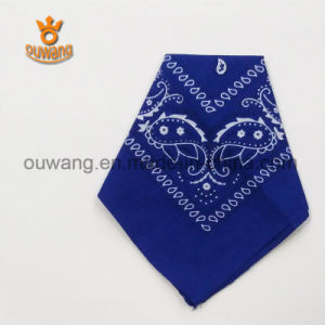 "Wholesale Cheap Paisley Pattern Cotton Printed Promotion Custom Bandana 22""*22"" pictures & photos"