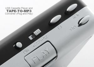 Original Portable USB Tape Cassette to MP3 Digital PC Converter Capture Stereo Audio Music Player pictures & photos