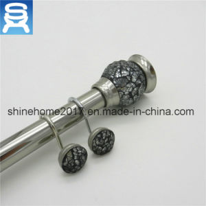 Factory Direct Nikel Plating Bathroom Shower Curtain Rods/Shower Curtain Rod pictures & photos