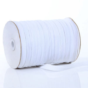 12mm 12cord White Rubber Elastic Braided Band Tape pictures & photos