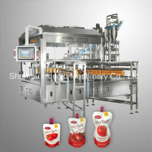 Paste Sauce Filling and Capping Machine for Spouted Plastic Pouch