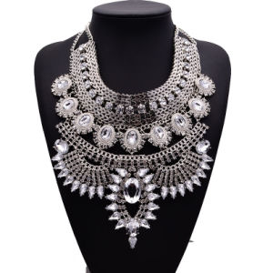 Fashion Full Rhinestone Diamond Crystal Designer Exaggerated Statement Choker Necklace Jewelry pictures & photos
