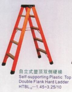 Self-Supporting Plastic Top Double Flank Hard Ladder pictures & photos