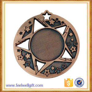 OEM Star Shape Metal Blank Medal with Customer 3D Logo Engraving pictures & photos