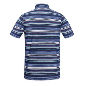 Latest Shirts Cotton/ Polyester for Men Colorful Striped Full Printed Polo Shirt pictures & photos