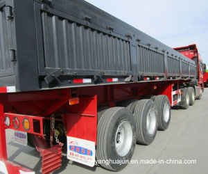 13 Meters Side Dump Semitrailer with Wall pictures & photos