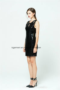 Most Popular Lady Girls Fashion Sleeveless Adult Party Dress pictures & photos