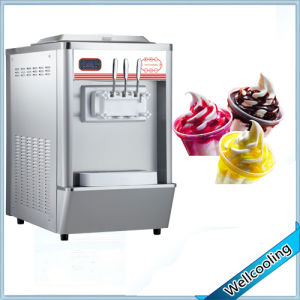 Good Quality Counter Model Colored Soft Ice Cream Machine pictures & photos