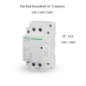 2p 63A Ict Household DIN Rail Electric AC Contactor pictures & photos