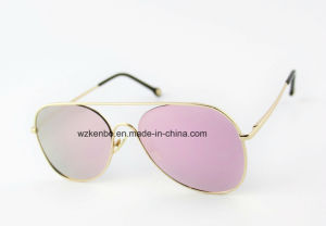 Classic Updated Design Metal Sunglasses Km16153 Flat Lens pictures & photos