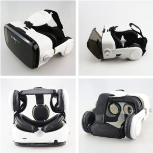 Leather 3D Cardboard Helmet Virtual Reality Headset Stereo Box Vr Glasses pictures & photos