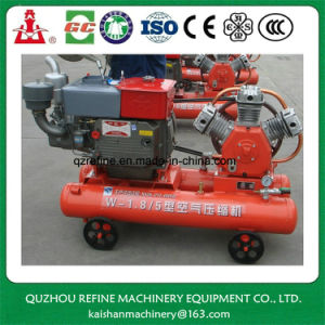 Kaishan Brand 15HP 5bar Diesel Portable Piston Air Compressor W-1.8/5 pictures & photos