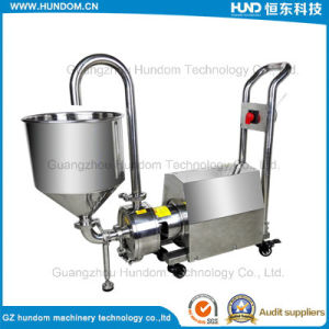 Sanitary High Shear Emulsion Blender Pump with Hopper pictures & photos