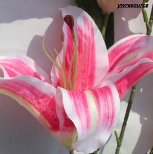 Pink Silk Artificial Flowers Fake Flowers Lily for Home Wedding Decoration Wholesalers pictures & photos