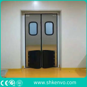 Commercial Impact Traffic Swinging Door with Glass Window pictures & photos