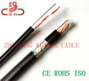 Outdoor Utpcat5e. 4X2X24AWG + 1.2 Messenger Steel Wire/Computer Cable/ Data Cable/ Communication Cable/ Connector/ Audio Cable pictures & photos