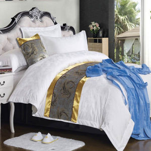 European Size Cotton Jacquard Sateen Duvet Cover Set pictures & photos