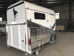 Two Horse Straight Load Deluxe Horse Float with Cupboard pictures & photos