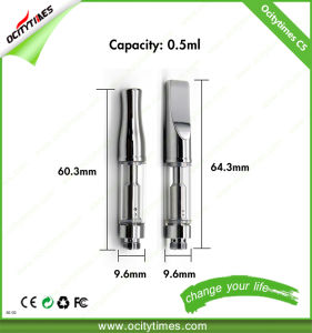 Ocitytimes E Cigarette 0.5ml Dual Coil C5 Hemp Oil Cartridge pictures & photos
