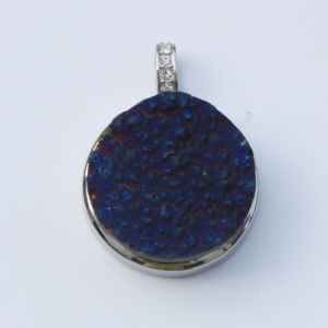 Blue Natural Drusy Agate Stone Pendants Chains Accessories for Women pictures & photos