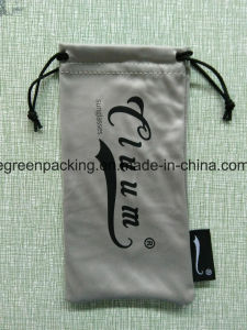 Microfiber Sunglasses Pouch Custom Branded with Label pictures & photos