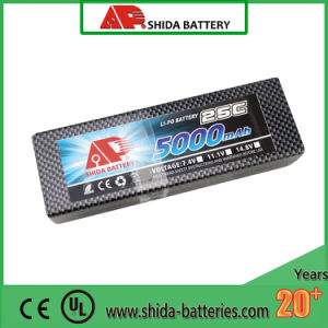 5000mAh 7.4V Hard Case Lithium Polymer Battery for RC Car pictures & photos