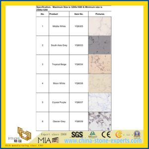 Vein Man-Made Quartz Stone Bathroom Tiles with Cheap Price pictures & photos