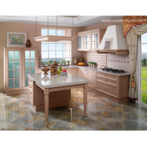 Country Age Classical L Shape PVC Kitchen Cabinets (OP11-X108)